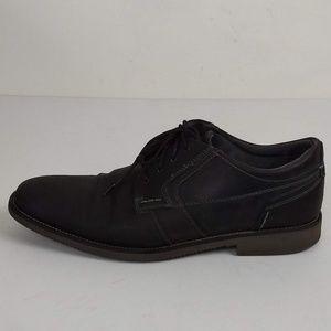 Steve Madden Lanister Black Leather Oxfords 10.5